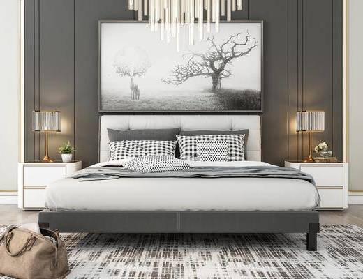 現代雙人床, 雙人床, 床具組合
