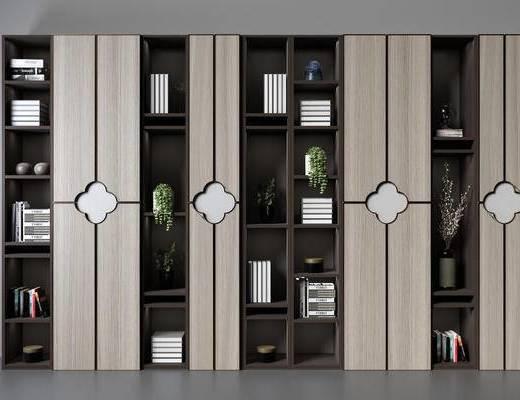 书架, 博古架组合, 书柜, 柜架组合