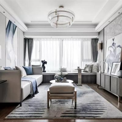 现代客厅, 现代, 客厅, 现代吊灯, 现代沙发, 现代台灯, 装饰画, 茶几