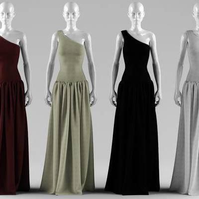 服装, 女装, 模特, 衣服