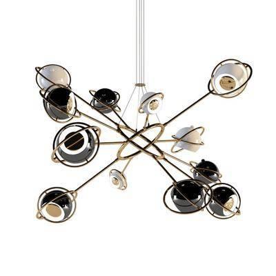 现代铁艺吊灯, 现代吊灯, 铁艺吊灯, 吊灯, 现代
