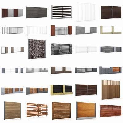 围栏, 围墙组合, 现代