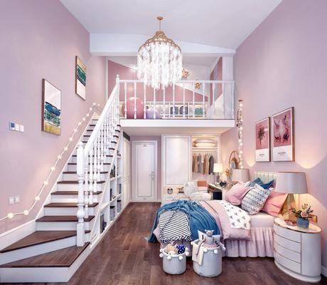 儿童房, 女儿房, 北欧儿童房
