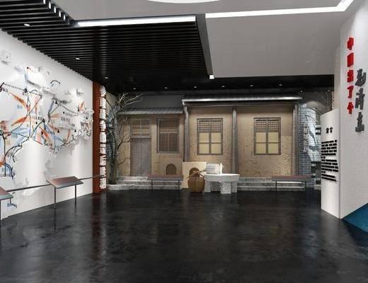 纪念馆, 展览展厅, 荣誉墙, 现代