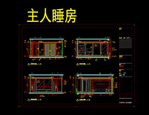 CAD图库, 家装施工图, 平面图, 立面图