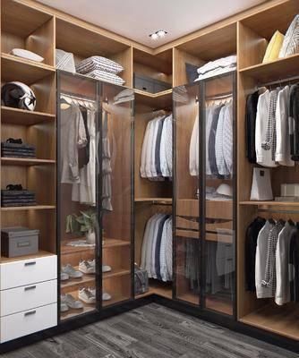 现代衣帽间, 衣帽间, 衣柜