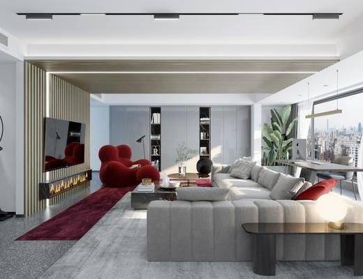 現代客廳, 客廳, 沙發組合
