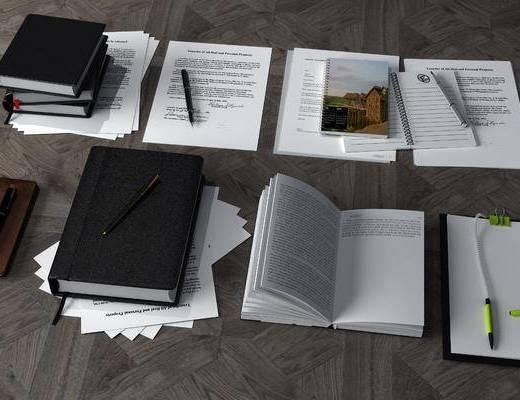 办公用品, 笔记本, 现代