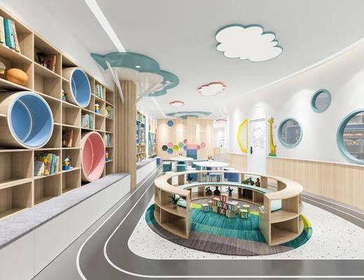 工装, 幼儿园阅读室