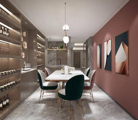现代餐厅, 家装