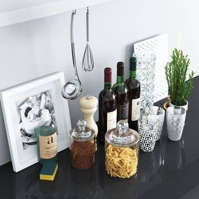 水杯, 酒杯, 红酒, 盆栽, 植物, 相框, 玻璃瓶, 玻璃罐, 现代