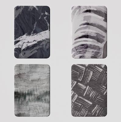 现代, 地毯, 3d模型, 单体