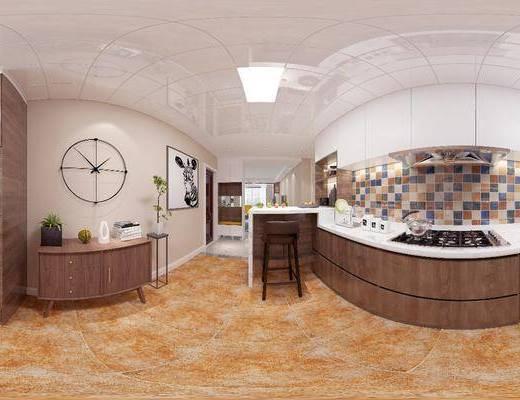 廚房, 家裝全景, 櫥柜組合, 廚具組合, 現代