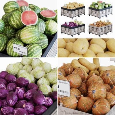 超市货架, 水果, 蔬菜, 货架, 超市用品, 现代