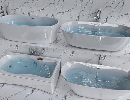 现代, 浴缸, 单体