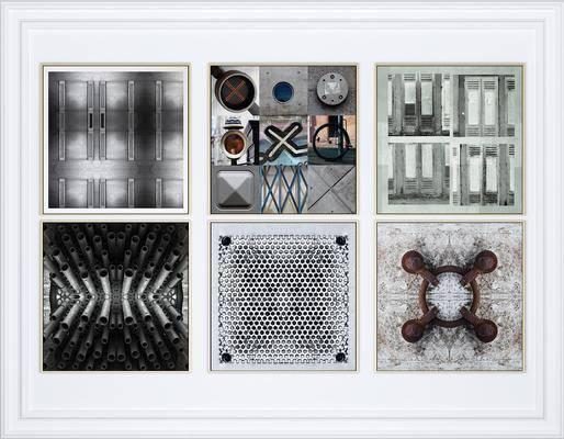 挂画, 抽象, 组合画, 工业风