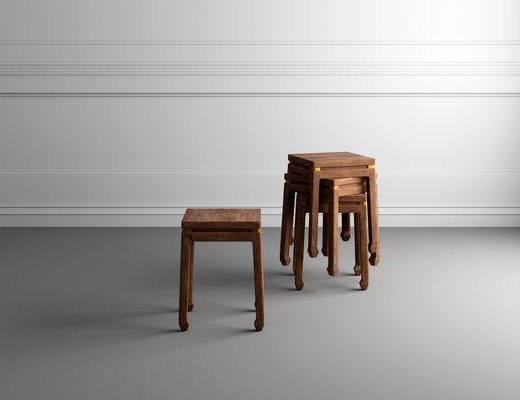 中式凳子, 凳子