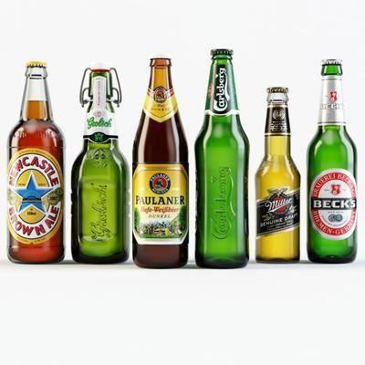 现代, 酒瓶, 酒杯, 酒水
