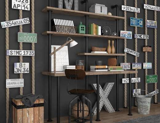装饰柜, 置物柜, 书籍