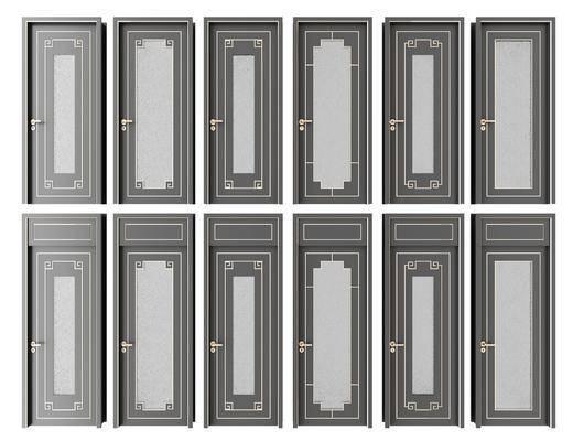平开门, 房门, 新中式房门