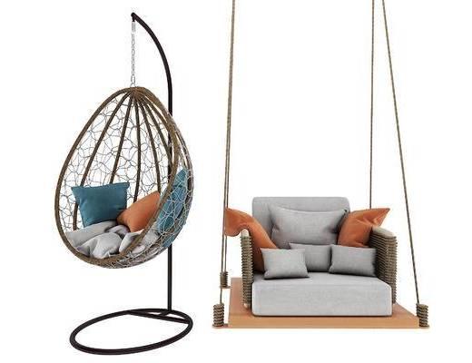 秋千, 藤椅, 吊椅, 户外椅, 单椅