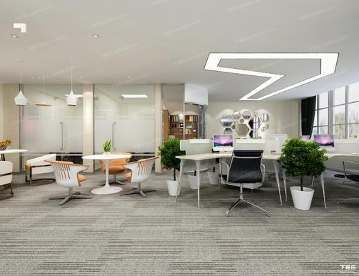 办公室, 办公桌, 办公椅, 椅子, 桌子, 办公区