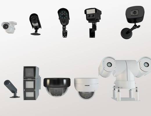 监控器, 摄像头, 镜头
