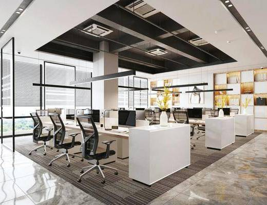 辦公桌, 桌椅組合, 吊燈, 裝飾柜, 邊柜, 擺件組合