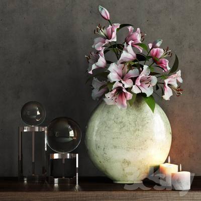 美式, 花瓶, 摆件, 陈设品