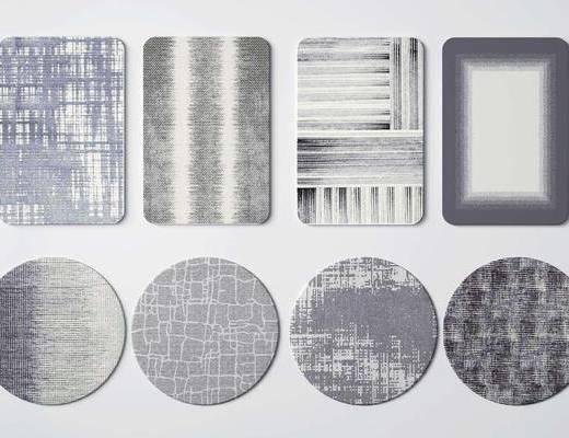 现代, 简约, 地毯, 单体