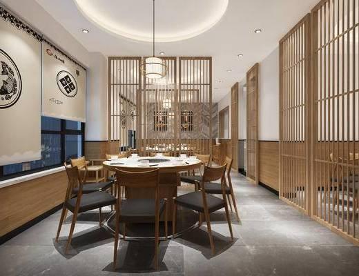 现代, 餐厅, 餐桌椅