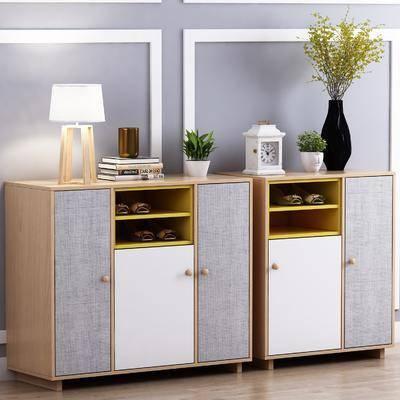 鞋柜, 摆件, 装饰品, 植物, 盆栽, 北欧鞋柜, 北欧