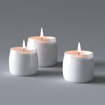 现代, 蜡烛, 摆件