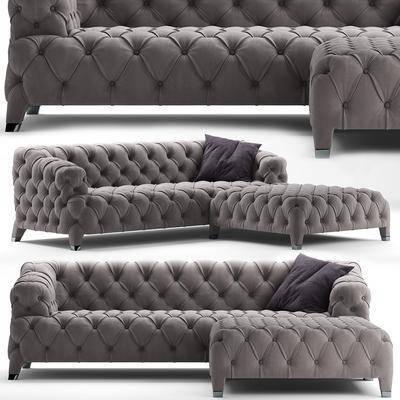 多人沙发, 现代沙发, 转角沙发, 沙发脚踏, 沙发凳, 组合, 纯色沙发, 现代