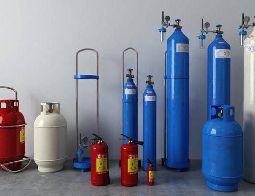 煤气罐, 灭火器