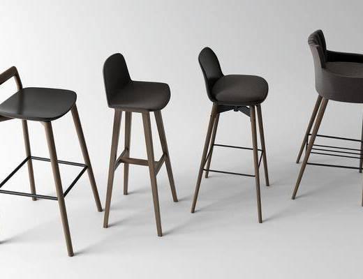 吧凳, 单椅