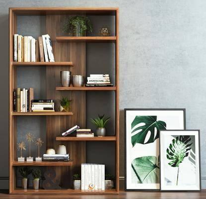 现代置物架, 挂画组合, 装饰柜架