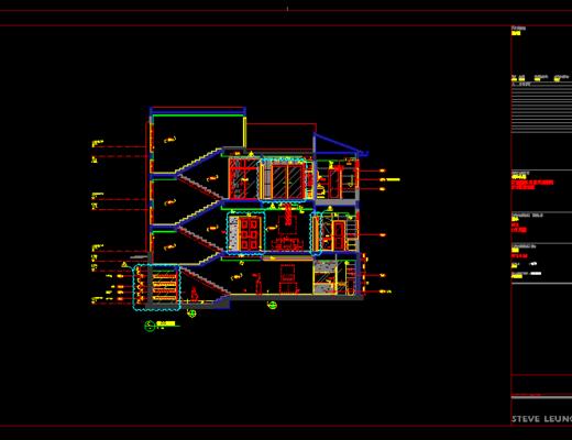 CAD施工图, 别墅, 平面图, 立面图, 大师施工图