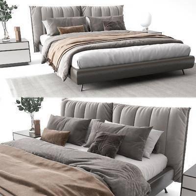 后现代布艺床, 双人床