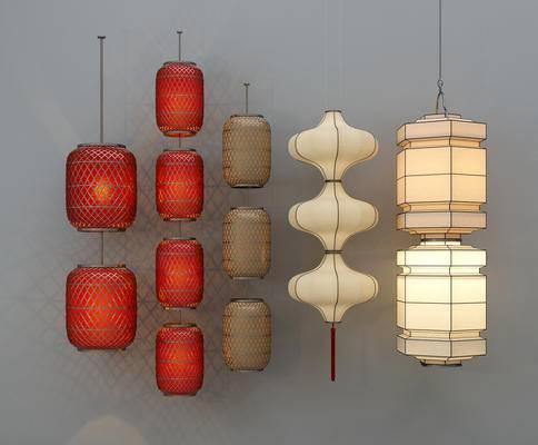 新中式, 灯具, 灯笼