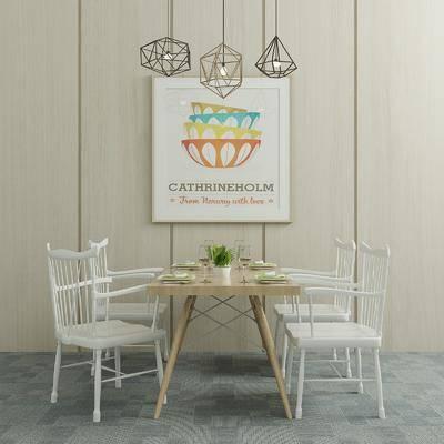 餐桌椅, 桌椅组合, 现代椅子, 椅子, 桌子