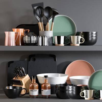 碗碟, 厨具, 摆件组合