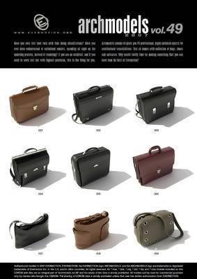 包, 鞋, 眼镜, Evermotion, Archmodels, EV