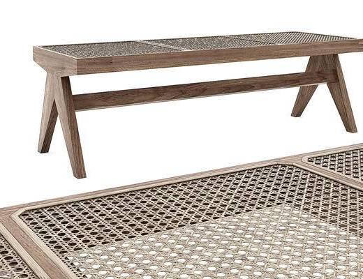 北欧藤编编织, 长条凳换鞋凳