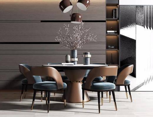 桌椅組合, 吊燈, 餐具組合
