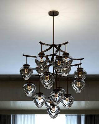吊灯, 现代吊灯, 金属吊灯, 玻璃吊灯, 多头吊灯, 现代
