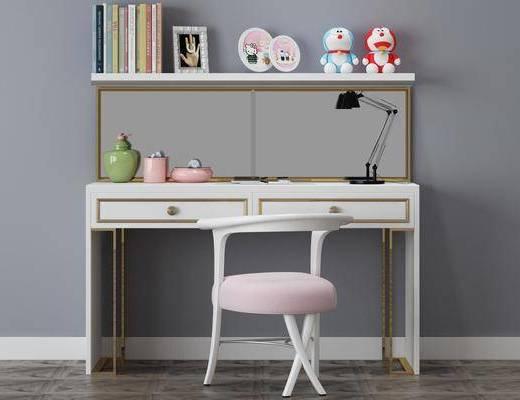 书桌, 单椅, 桌椅组合