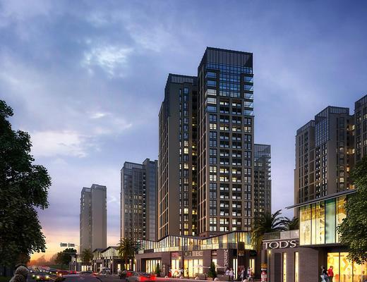 商业街, 大厦, 建筑