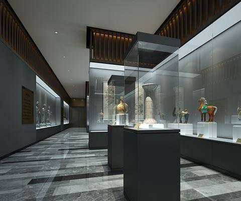 古董店, 展览馆, 古董, 收藏室, 展柜文物