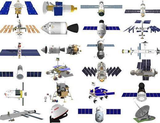 现代宇宙飞船空间站卫星